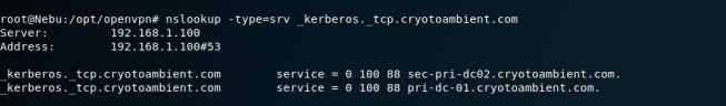 Nslookup-Kerberos